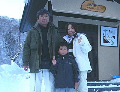 スキーと天然温泉満喫♪ 若澤様ご一家