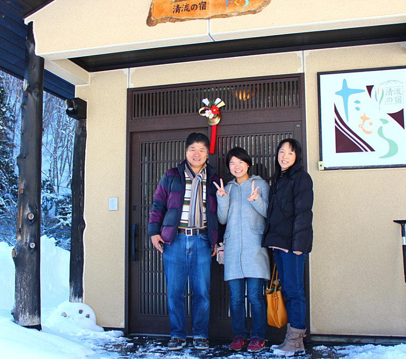 スキー&源泉掛け流し雪見の貸切露天風呂