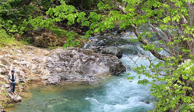 渓流釣り&源泉掛け流し貸切露天風呂